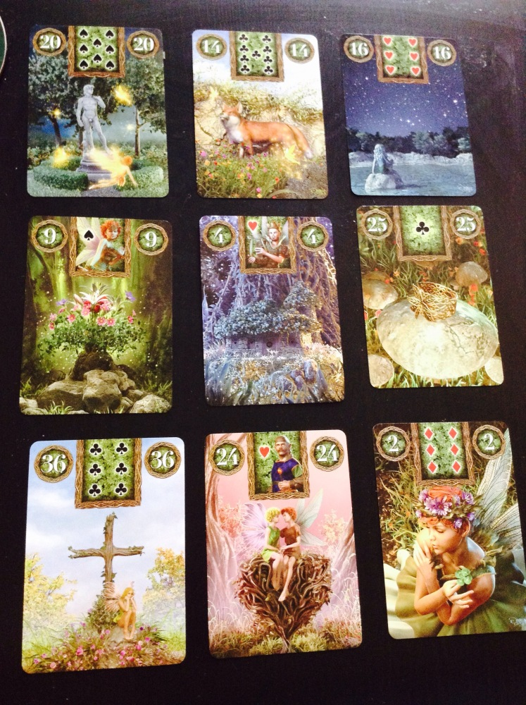 My First Spread of Lenormand... practice (2/2)